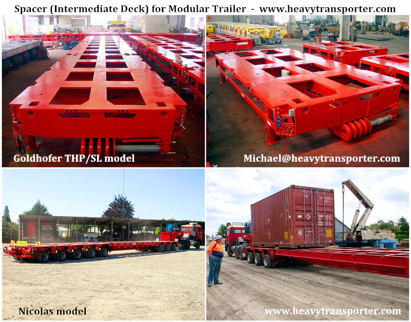 Spacer (Intermediate bridge) for Modular Trailer - www.heavytransporter.com