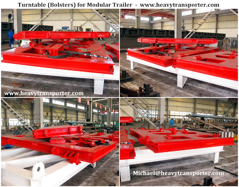 Turntable (Bolsters) for Modular Trailer - www.heavytransporter.com