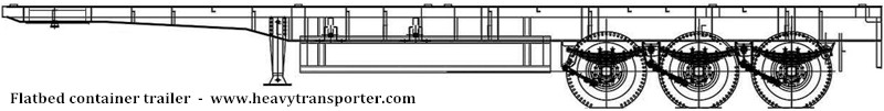 Flatbed container trailer - www.heavytransporter.com