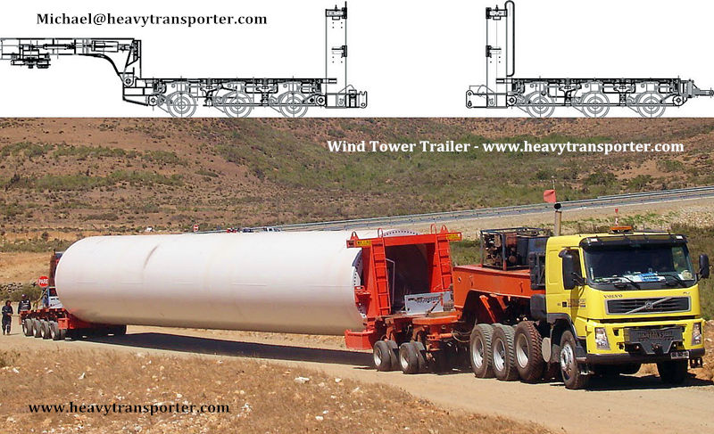 Wind Tower Trailer - www.heavytransporter.com